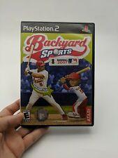 Backyard Sports: Baseball 2007 (Sony PlayStation 2, 2006) complete in box