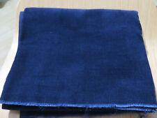 "Vtg Navy Blue Pin Wale Corduroy 2 Yard x 44"" W Fabric Piece"
