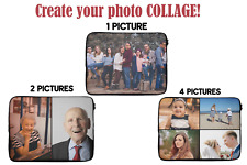 """CUSTOM Photo Picture Collage Laptop Tablet iPad Sleeve Case Cover Bag 13 14"""" 15"""""""