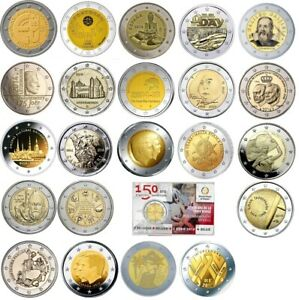 LOTTO 23 PEZZI 2 EURO COMMEMORATIVI 2014 FDC DA ROTOLINI E COINCARD