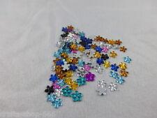 100 Glitzersteine - Blumen Mix - 5 mm - Neu