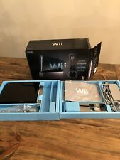 Black Nintendo Wii Console In Original Box TESTED CLEANED