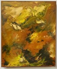 RENE COUTURIER Vintage Original French Abstract Expressionist Oil Midcentury Art