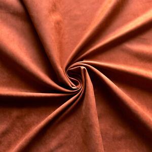 Suedette fabric - Satin back - Rust colour - Non stretch - Dress fabric