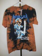 NWT Metallica Bleached 'Their Money Tips Her Scales Again' T-Shirt , Medium
