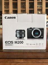 Canon EOS M200 Mirrorless Digital Camera w/ 15-45mm Lens - 24.1 mp - Black - New