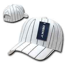 Decky Pin Striped Pinstriped 100% Acrylic High Crown Baseball Hats Caps