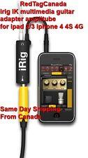 irig IK multimedia guitar adapter amplitube 4 ipad 2 3 iphone 4 4S - Canada