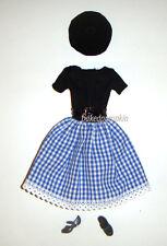 Barbie Fashions Gingham Skirt Costume For Barbie Dolls fn006