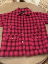 Vintage Woolrich Red and Black Buffalo Plaid Wool Hunting Jacket