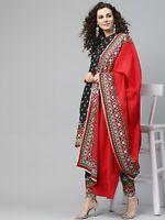 Indian Women Kurti Dupatta Palazzo Set Kurta Rayon Dress Top Tunic Combo Ethnic
