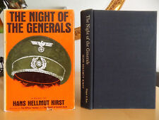 The Night of The Generals - Hans Hellmut Kirst, 1963 1st Ed. Hardcover w/jacket