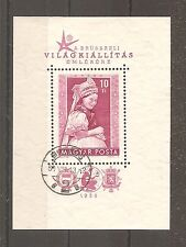TIMBRE HONGRIE MAGYAR 1958 BLOC N°33 OBLITERE USED