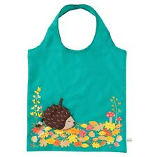 Green Hedgehog Design - Foldable Eco Shopping Bag