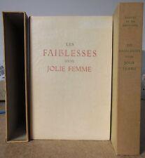 LES FAIBLESSES D'UNE JOLIE FEMME ILLUSTRATIONS COULEURS DE RAOUL SERRES CURIOSA