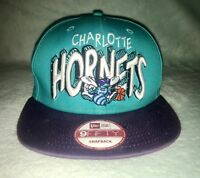 Vintage Charlotte Hornets NBA Hat New Era Adjustable SnapBack HWC 59Fifty Teal