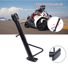 Anti-slip Black Motorcycle Bike Kickstand Side Stand Leg Prop Part Universal Kit