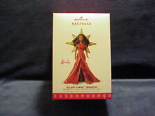 2017 Hallmark Holiday Barbie Ornament With Shimmering Red Fabric Gown Nib