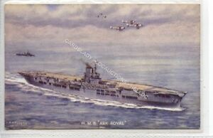 "(Ld3507-469) H.M.S.  ""Ark Royal"",  Unused, G-VG"