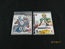 PLAY STATION 3 FOOTBALL GAMES LOT OF 2 - MADDEN 09 AND MADDEN 13