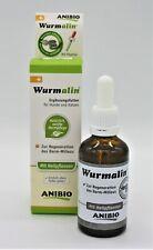 Anibio Wurmalin Nahrungsergänzung für Hunde Katzen bei und nach Wurmbefall 50ml