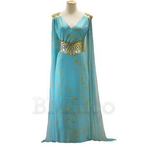 Mother of Dragons Game of Thrones Targaryen Qarth Halloween Party Cosplay Dress