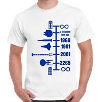 Spaceship Craft Timeline Men Women Funny Cool Gift Retro Unisex T Shirt 731