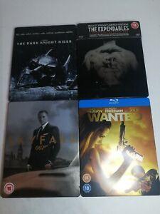 Blu Ray Steel book Joblot Bundle Batman Dark Knight Rises Expendables James Bond