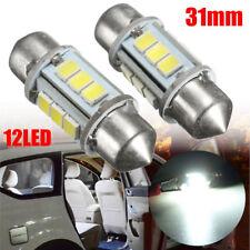 2 LAMPADINE SILURO CANBUS 360° 31MM LUCI TARGA INTERNI ABITACOLO 12 LED SMD AUTO