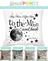 Personalised Cushion Moon and Back Love Gift Christmas Valentines Day Keepsake