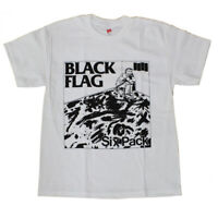 BLACK FLAG T-Shirt Six Pack Punk Band Tee New Authentic S-2XL