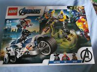 LEGO Marvel Avengers Speeder Bike Attack Playset 76142 Age 5+ 226pcs