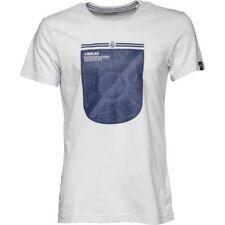Camisetas de fútbol de manga corta en blanco