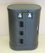 Wheeled Oval Hard Large Case For Trade Show Pop Up Display Booth Podium Storage