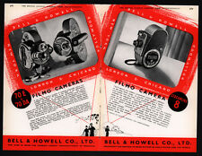 1938 ad BELL HOWELL MOVIE PROJECTOR FILMOSOUND  CAMERA 4 PAGE