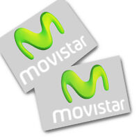 Movistar motorcycle sponsor graphics stickers decals racing moto  x 2 pcs