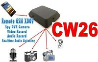 MICROSPIA GSM X009 SPIA AUDIO E VIDEO INTERCETTAZIONE AMBIENTALE CIMICE CW26