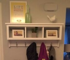 Wall Cubby Storage Unit Coat Rack Shelf with 3 Cubby Holes For Organization Rack