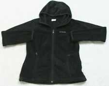 Columbia Hooded Sweatshirt Black Womens Medium Full Zip Top Polyester Fleece