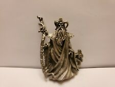 Pewter wizard with dragon