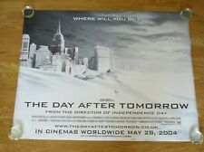 THE DAY AFTER TOMORROW ORIGINAL 2004 CINEMA UK QUAD FILM POSTER ROLLED SNOW