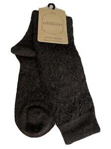 ❤️Womens BONETTI GIORDANO Made In Italy Knee High Luxury Yarn Grey NWT