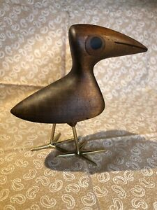 Rare Mahogany Bird Bronze Inlay by Karl Hagenauer Werkstätte Hagenauer Wien