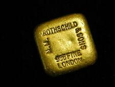 N.M. Rothschild & Sons London 5 Tolas .996 RARE Gold Poured Bar 1.875 oz