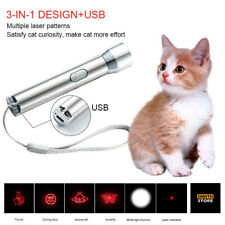 3 In 1 Mini Portable Multiple Laser Pattern Teasing Usb Charging Cat Toy