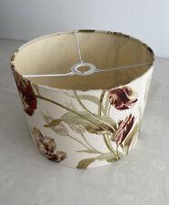 Drum Lampshade Laura Ashley Gosford floral fabric 30cm Paprika