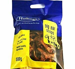 Hollings Pigs Ears Strips 500g Dog Treats