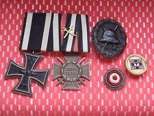 WK I Orden Spange EK mit Hersteller Verwundetenabzeichen Kokarde 1 Weltkrieg