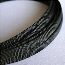 Black PET Expandable Braided Tube Sleeving Dense Car Audio Cable Wire Sheath DIY