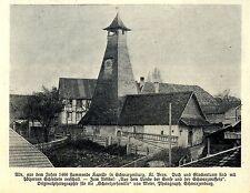 Alte Kapelle in Schwarzenburg Kt.Bern Historische Aufnahme von 1908
